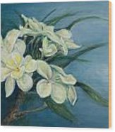Creamy Plumeria Wood Print