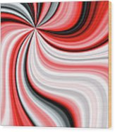 Creamy Red Graphic Wood Print