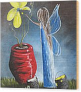 Creating Tomorrow Fairy By Shawna Erback Wood Print