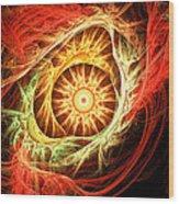 Creation Of Sun Wood Print by Lourry Legarde