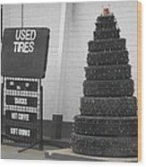 Creative Christmas Tree Wood Print
