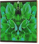 Creatures In The Green Fauna Wood Print