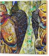 Creche Angels 5 Wood Print