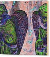 Creche Angels 7 Wood Print