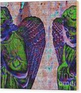 Creche Angels 9 Wood Print
