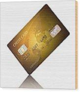 Credit Card Wood Print
