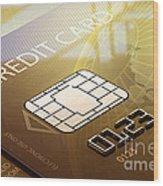 Credit Card Macro - 3d Graphic Wood Print