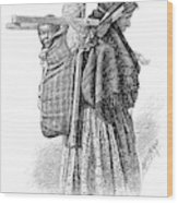 Cree Indian Squaw And Papoose Wood Print