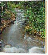 Creek After Big Storm Wood Print