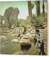 Creek At Jackalope Ranch Palm Springs Wood Print