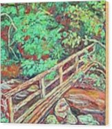 Creek Bridge Wood Print