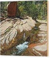 Creek Crossing Wood Print