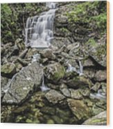 Creek Falls Wood Print