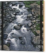 Creek Flow Polyptych Wood Print