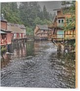 Creek Street - Ketchikan - Alaska Wood Print