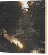 Creek Sunrise Wood Print