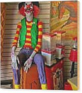 Creepy Clown Wood Print
