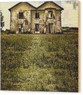 Creepy Derelict House Wood Print