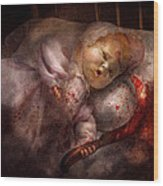 Creepy - Doll - Night Terrors Wood Print