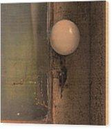 Creepy Door Knob Of Abandoned House Wood Print