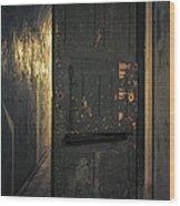 Creepy Door Wood Print