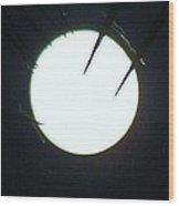 Creepy Full Moon Zoom 3 9/18 Wood Print
