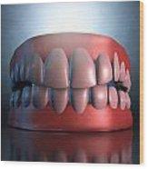Creepy Teeth  Wood Print
