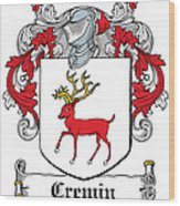 Cremin Coat Of Arms Irish Wood Print