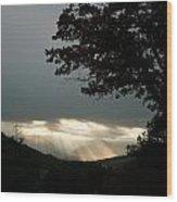 Crepuscular Light  Wood Print