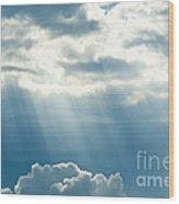 Crepuscular Rays Wood Print