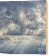 Crepuscular Rays Wood Print