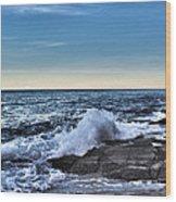 Crescent Bay #1 Wood Print