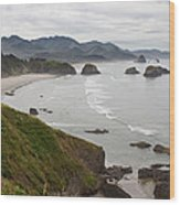Crescent Bay At Cannon Beach Oregon Coast Wood Print