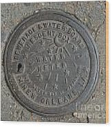 Crescent City Water Meter Wood Print
