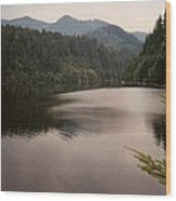 Crescent Lake Wood Print