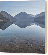 Crescent Lake Reflection Wood Print by Pierre Leclerc Photography