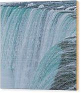 Crest Of Horseshoe Falls In Winter Wood Print