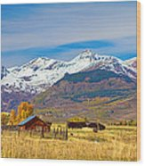 Crested Butte Autumn Landscape Panorama Wood Print