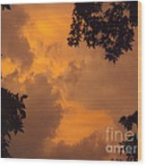 Cresting The Storm Clouds Wood Print