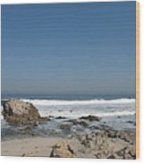 Crestwaves On A California Beach Wood Print
