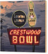Crestwood Bowl Restored Wood Print