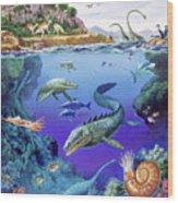 Cretaceous Period Fauna Wood Print