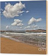 Cretan Beach Wood Print