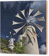 Creton Windmills Wood Print