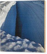 Crevasse Wood Print