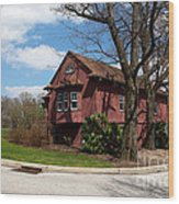 Cricket Building At Haverford College Wood Print by Kay Pickens