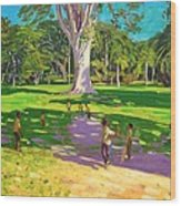 Cricket Match St George Granada Wood Print by Andrew Macara