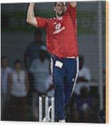 Cricket - Stanford Super Series - Trinidad & Tobago V England - Stanford  Cricket Ground Wood Print