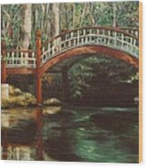 Crim Dell Bridge - College Of William And Mary Wood Print