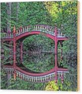 Crim Dell Bridge In Summer Wood Print